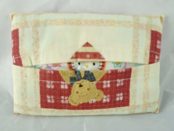 【震撼精品百貨】Holly's Bear 泰迪熊~面紙套『白紅』