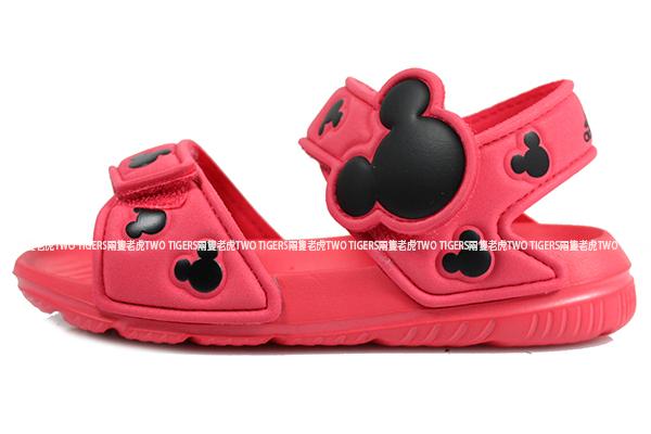 ADIDAS Disney AltaSwim I 西瓜紅色 米奇 魔鬼氈 涼鞋 小童鞋 NO.Y0896