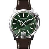 GIORGIO FEDON 1919 永恆系列運動版機械錶-綠x咖啡/45mm GFCI005