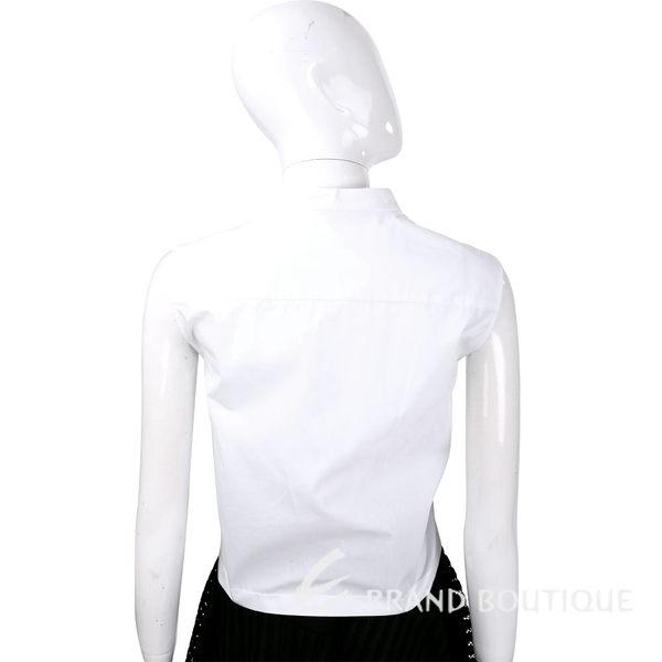 ALBERTA FERRETTI 白色縷空織花無袖上衣 1620595-20