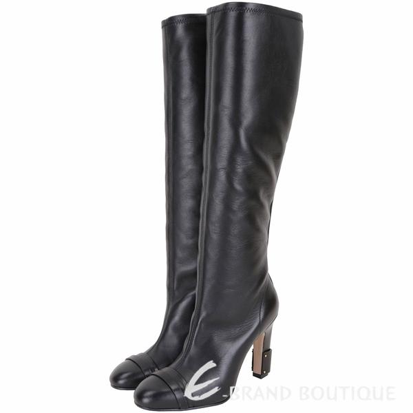 Stuart Weitzman CARTER 經典款牛皮高跟及膝長靴(黑色) 1910270-01