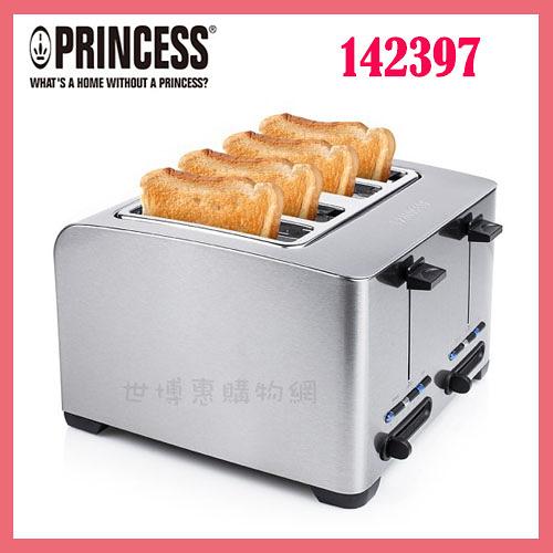 可刷卡◆PRINCESS荷蘭公主 不鏽鋼四片烤麵包機/吐司機 142397◆台北、新竹實體門市