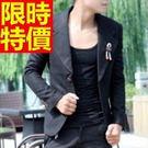 西裝外套風靡時尚-收腰英倫風時髦自信男西服(單件外套)1色59t11【巴黎精品】