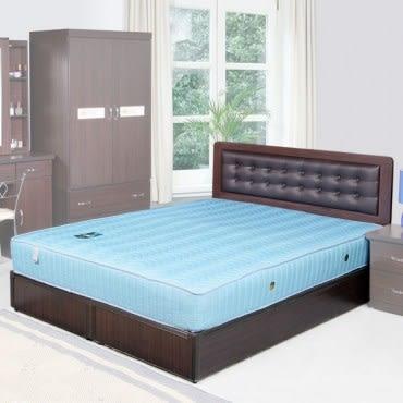 Homelike 艾凡6尺床組+獨立筒床墊-雙人加大(胡桃木紋)