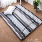 床墊1.8m床褥子1.5m雙人墊被褥學生宿舍單人0.9米1.2m海綿榻榻米YYJ 深藏blue