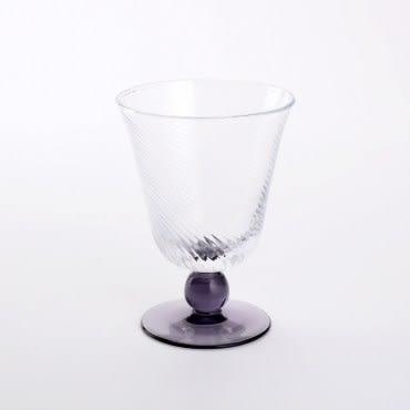 HOLA洛茲高腳斜紋水杯 紫