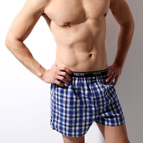 【TELITA】型男色織平口褲5件組-隨機