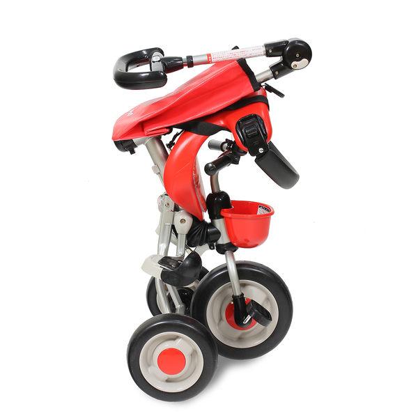 !!免運!!日本 ides 第三代摺疊背包車(*紅色款) / 嬰兒手推車 摺疊推車 兒童三輪車 腳踏車