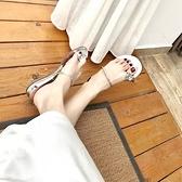 涼鞋-平底大氣水鑽奢華尊貴夾腳女休閒鞋3色67d22[巴黎精品]
