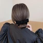 復古蝴蝶結頭飾半丸子頭盤髮神器優雅蓬松后腦勺髮飾懶人髮圈【愛物及屋】