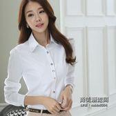 正韓長袖襯衣韓范寬鬆上衣學生百搭白色襯衫女職業