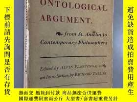 二手書博民逛書店THE罕見ONTOLOGICAL ARGUMENT.Y5919 Alvin Plantinga Doubled