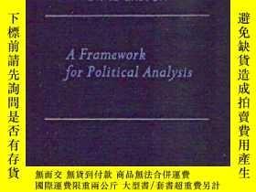 二手書博民逛書店A罕見Framework For Political AnalysisY255562 David Easton