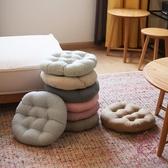 棉麻椅子墊子地上座墊榻榻米加厚圓形坐墊椅墊家用【櫻田川島】