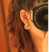 正方形流蘇耳環(無耳洞用)