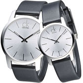 CK City 極簡知性風對錶-白/黑
