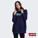 Levis 女款 口袋帽T / 中長版 / 經典Logo / 內刷毛