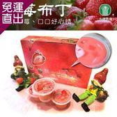 大湖農會 大湖酒莊草莓布丁 香醇綿密幸福好味道(100gx10杯/盒)x2盒組【免運直出】