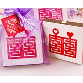 ╭*幸福朵朵*╯【雙囍臨門茶包組X基本100份】-迎賓禮/送客禮/伴手禮/贈品/二次進場/婚禮小物