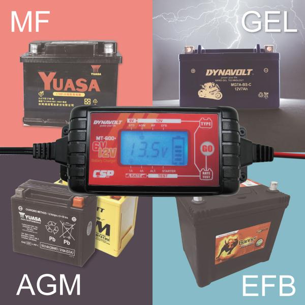 MT-600+多功能脈衝式微電腦智慧型充電器6V 12V (加水電池.MF.EFB.AGM 電瓶電池適用) MT600+