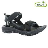 NAOT 女 越野運動涼鞋 HARBOR 38506X10【黑色】/ 城市綠洲 (織帶、輕量、快乾、抑菌)