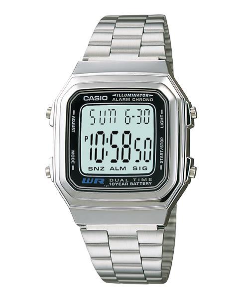 【CASIO宏崑時計】CASIO卡西歐復古電子錶 A178WA-1A 生活防水 台灣卡西歐保固一年
