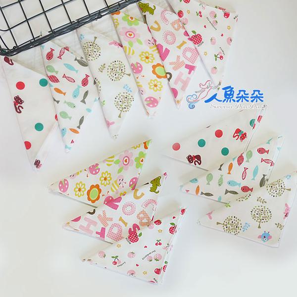 棉質三角巾 (不挑款) 現貨 純棉 雙層 雙面 口水巾 三角巾 圍兜 領巾 雙釦 卡通 兒童 嬰兒口水巾