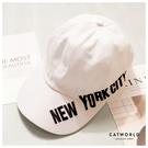 Catworld NEW YORK CITY文字刺繡棒球帽【18003705】‧F
