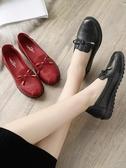 奶奶鞋 媽媽鞋單鞋新款中老年女鞋舒適軟底平底奶奶中年老人皮鞋秋季 免運費