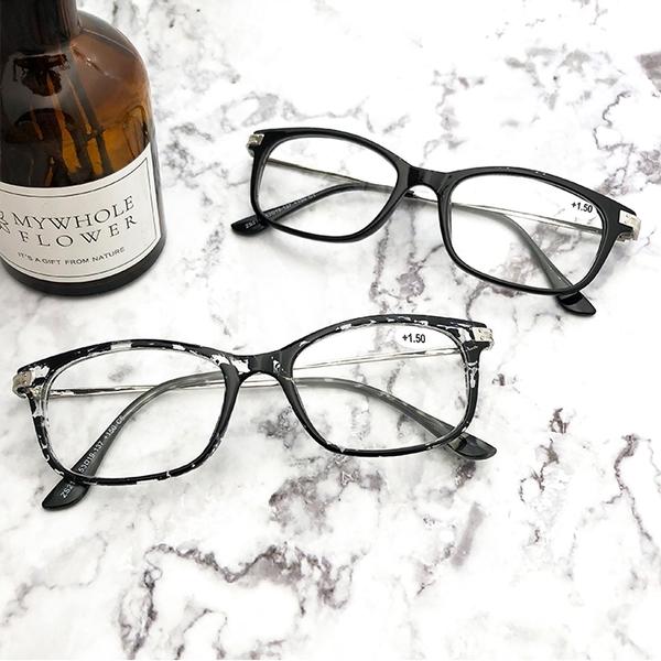 老花眼鏡 輕巧簡約細框老花眼鏡 佩戴舒適 閱讀眼鏡 高硬度耐磨鏡片 配戴不暈眩