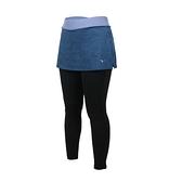 MIZUNO 女緊身褲裙(免運 台灣製 慢跑 路跑 瑜珈 有氧 運動長褲 美津濃≡體院≡ K2TB120733