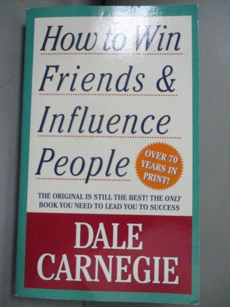 【書寶二手書T1/心理_JON】How To Win Friends And Influence People _Dale Carnegie