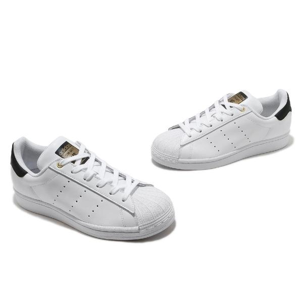 adidas 休閒鞋 Superstar Stan Smith 白 黑 女鞋 合體鞋款 金標 貝殼頭 運動鞋【ACS】 FX7577