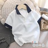Polo衫男童韓版夏裝短袖t恤兒童純棉網眼翻領衫【奇趣小屋】