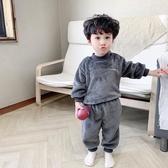 兒童睡衣冬款加厚珊瑚絨套裝秋冬法蘭絨寶寶家居服【聚可愛】