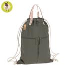 德國Lassig-簡約束口袋型後背媽媽包-橄欖綠