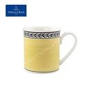 德國唯寶 Villeroy&Boch 奧頓系列Audun 300ml馬克杯-Fleur(黃邊花環)
