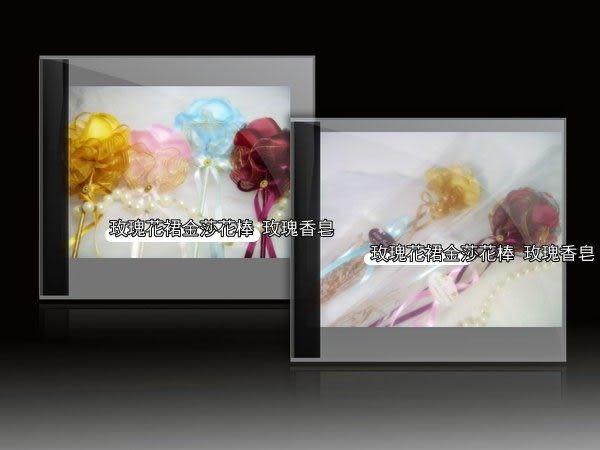 二次出場-玫瑰花裙金莎花棒 玫瑰香皂-支/ 婚禮小物/ 情人求婚/浪漫婚禮/純天然手工皂