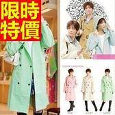 雨衣-輕薄斗篷式機能日系女用雨具2色54m24[時尚巴黎]