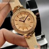 VERSUS VERSACE凡賽斯女錶32mm玫瑰金色錶面粉紅錶帶