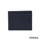FOSSIL NEEL 真皮系列多卡兩折短夾-海軍藍 ML3899400