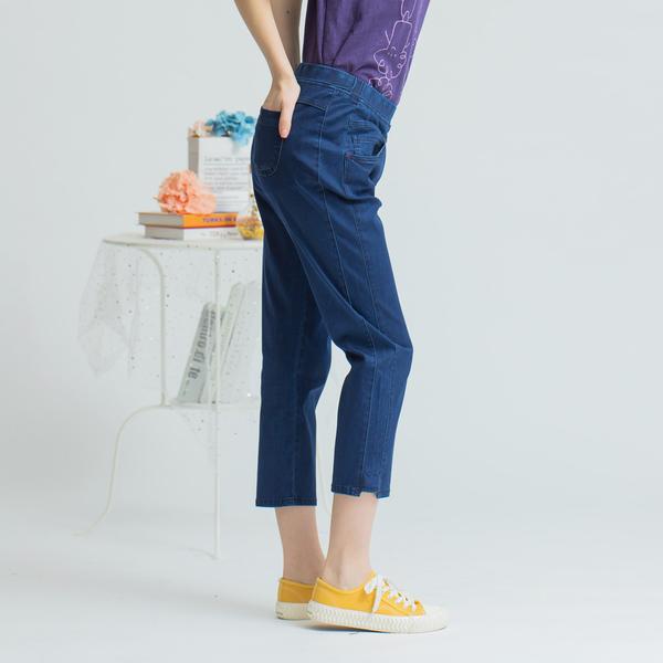 【中大尺碼】MIT顯瘦俐落牛仔中褲
