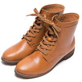 DIANA 自然風潮–率性綁帶側拉鍊短靴 – 棕★特價商品恕不能換貨★
