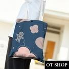 OT SHOP[現貨]側肩背 帆布包 手提袋 購物袋 托特包 絲絨布 星空 太空人 棉花糖 插畫 小清新 H2086