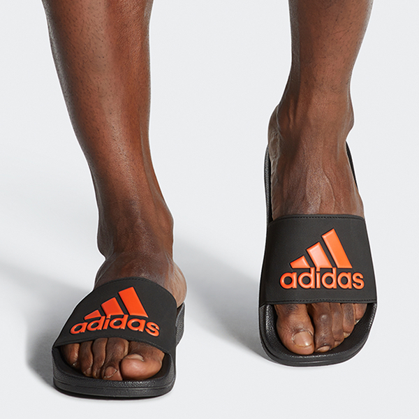 ADIDAS ADILETTE SHOWER 男鞋 女鞋 拖鞋 防水 黑 橘【運動世界】EE9015