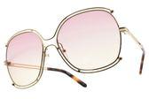 Chloe 太陽眼鏡 CE129S 702 (金-漸層粉黃鏡片) 雙邊造型款 墨鏡 # 金橘眼鏡
