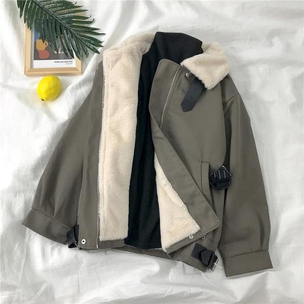 工裝外套 年冬羊羔毛穿搭工裝棉服女韓版寬鬆棉襖外套加絨加厚棉衣【快速出貨】