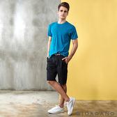 【GIORDANO】男裝COOLMAX素色口袋卡其短褲(附腰帶)-09 標誌黑