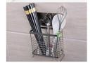 雙慶家居5171免打孔筷子籠廚房不銹鋼筷子籠吸盤壁掛式筷子筒5171