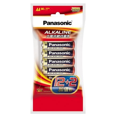 國際牌大電流鹼性電池3號12+2入/組【愛買】